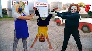 Мороженщик и Пеннивайз не поделили рецепт мороженного  ICE SCREAM and PENNYWISE was in REAL LIFE 5
