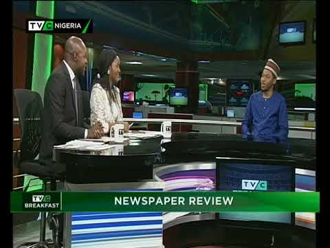 TVC Breakfast 13th December 2017 | Newspaper Review with Ayodele Adio