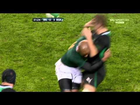 JP Pietersen Hit On Chris Henry Ireland V South Africa Autumn International 2012 HD