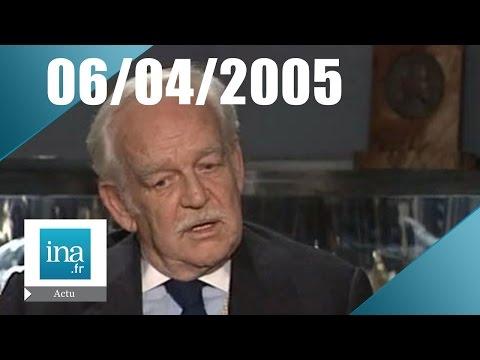 20h France 2 du 6 Avril 2005 - Mort de Rainier de Monaco - Archive INA