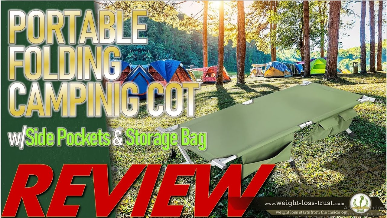 SV SCOOL VALUE Portable Folding Camping Cot REVIEW - YouTube