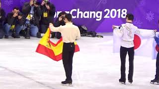 2018.2.17PyeongChang Olympic Mens Venue Ceremony Yuzuru Hanyu
