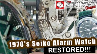 Restoration of 1970s Seiko Bellmatic, Rusted Solid and broken - Lets get this watch working!