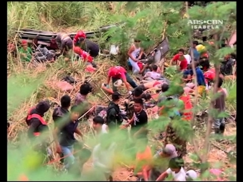 Raw: At Least 26 Dead In Philippines Bus Crash