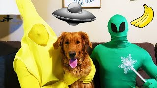 Funny Alien And Banana Watch TV With Earl!