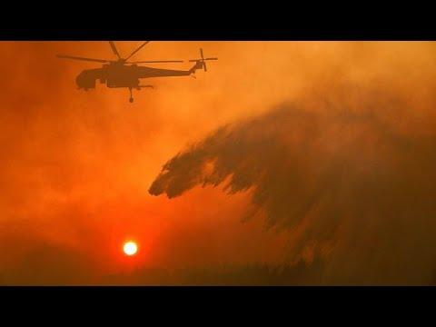 Yunanistan'da 90 ayrı noktada orman yangını