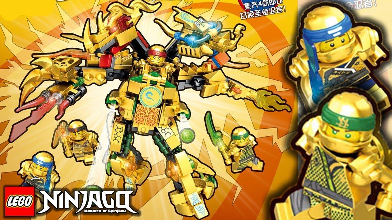 Lego Ninjago Season 9 Golden Dragon Mech Set With Gold Ninjas Crazy
