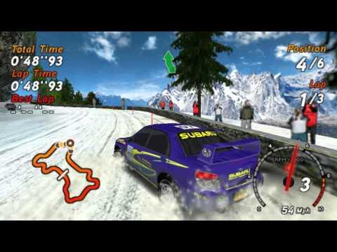 SEGA Rally - PSP Gameplay