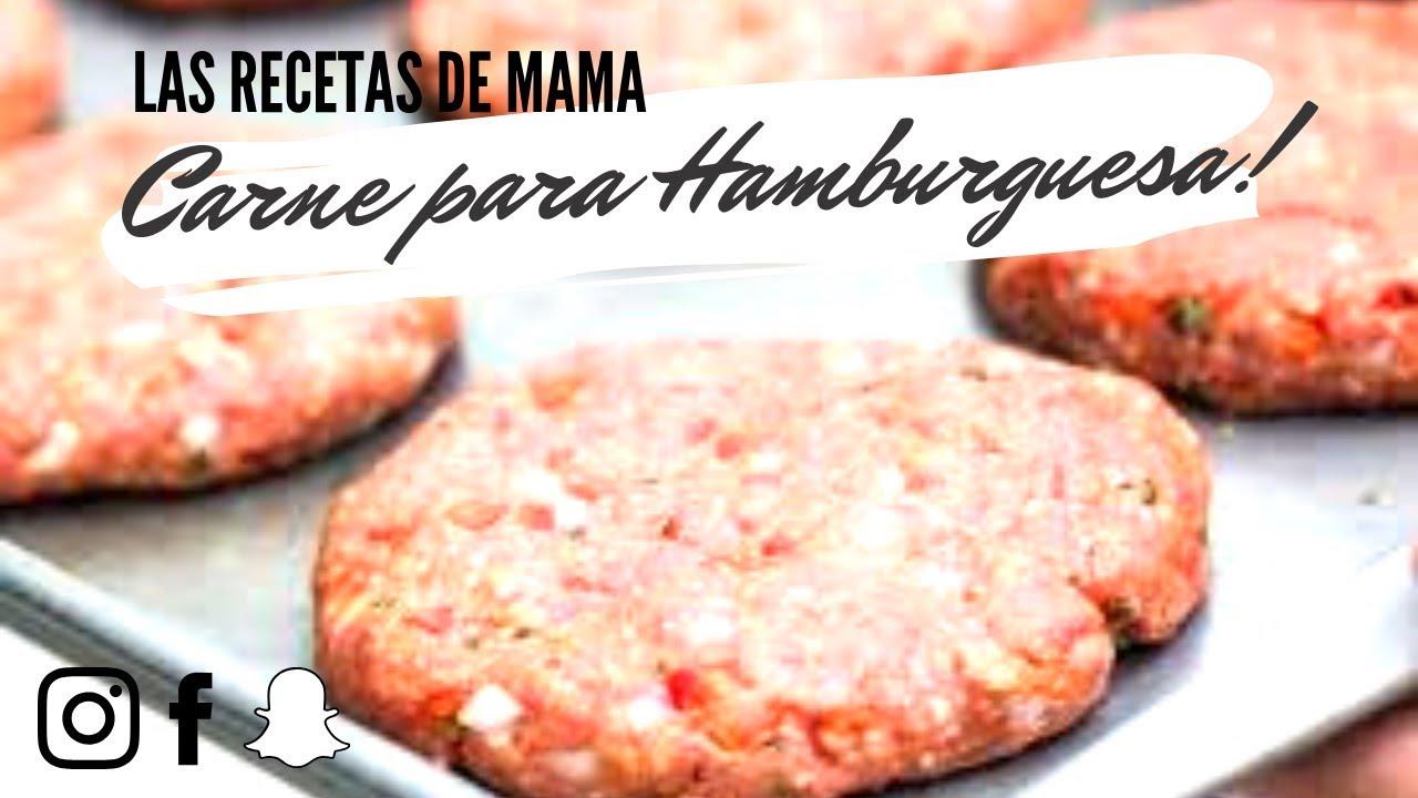 como preparar carne para hamburguesas receta facil youtube