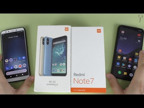 СРАВНЕНИЕ Xiaomi Mi A2 Vs Redmi Note 7 ► ЧИСТЫЙ Android One против MiUi от СЯОМИ!