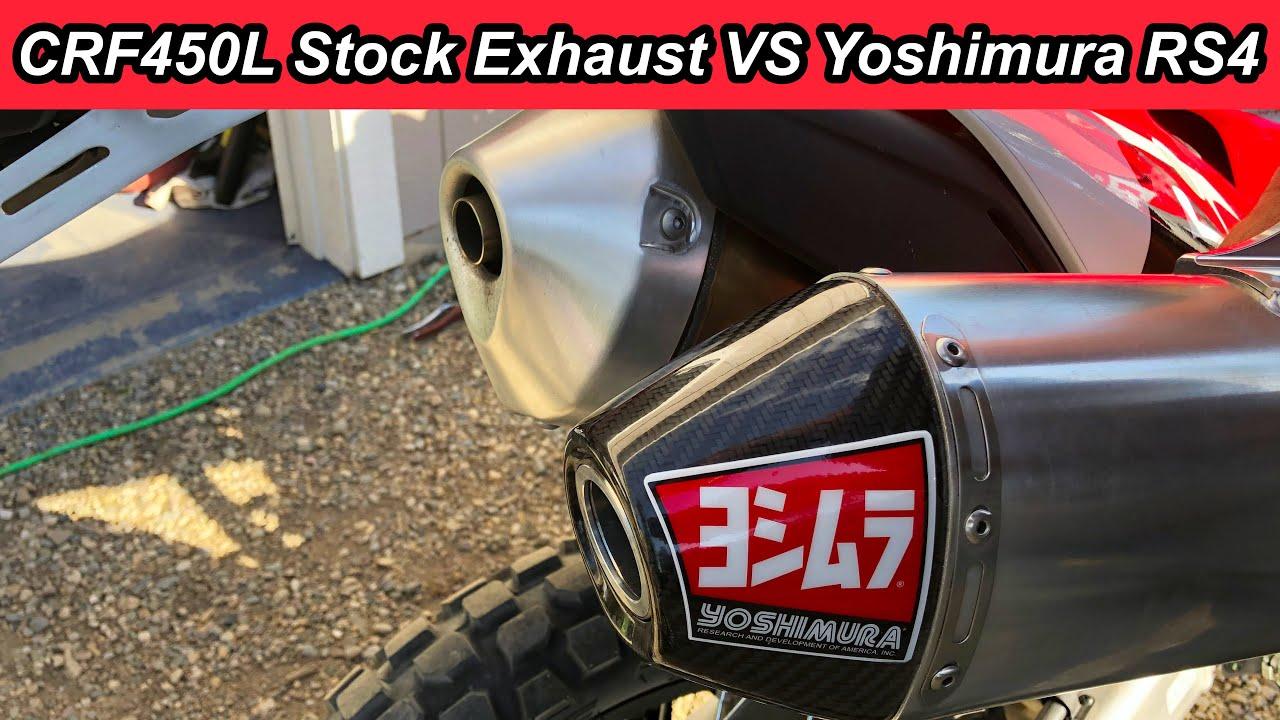 yoshimura rs 4 exhaust sound vs stock crf450l