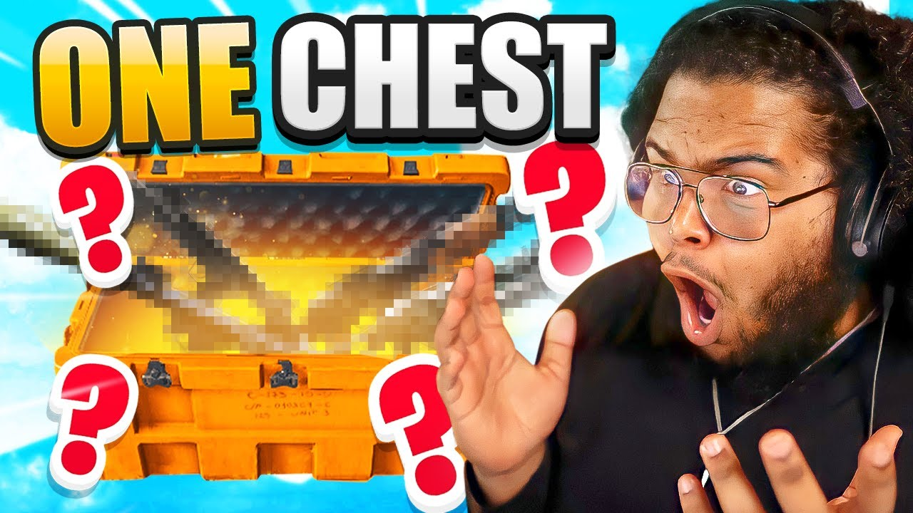 They made me do the Warzone ONE CHEST ONLY CHALLENGE!