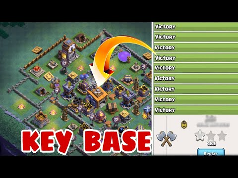 New BEST Builder Hall 8 Base Layout With Extra Walls | Best Bh8 Base Design w/PROOF | Clash of Clans