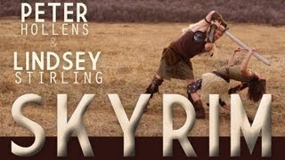 Repeat youtube video Skyrim - Peter Hollens & Lindsey Stirling