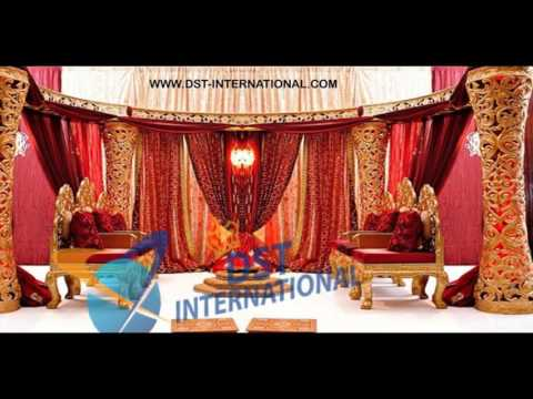 #DSTinternational #wedding #mandap #stage #paiselays #backdrop #fiber #welcome #statues #wooden