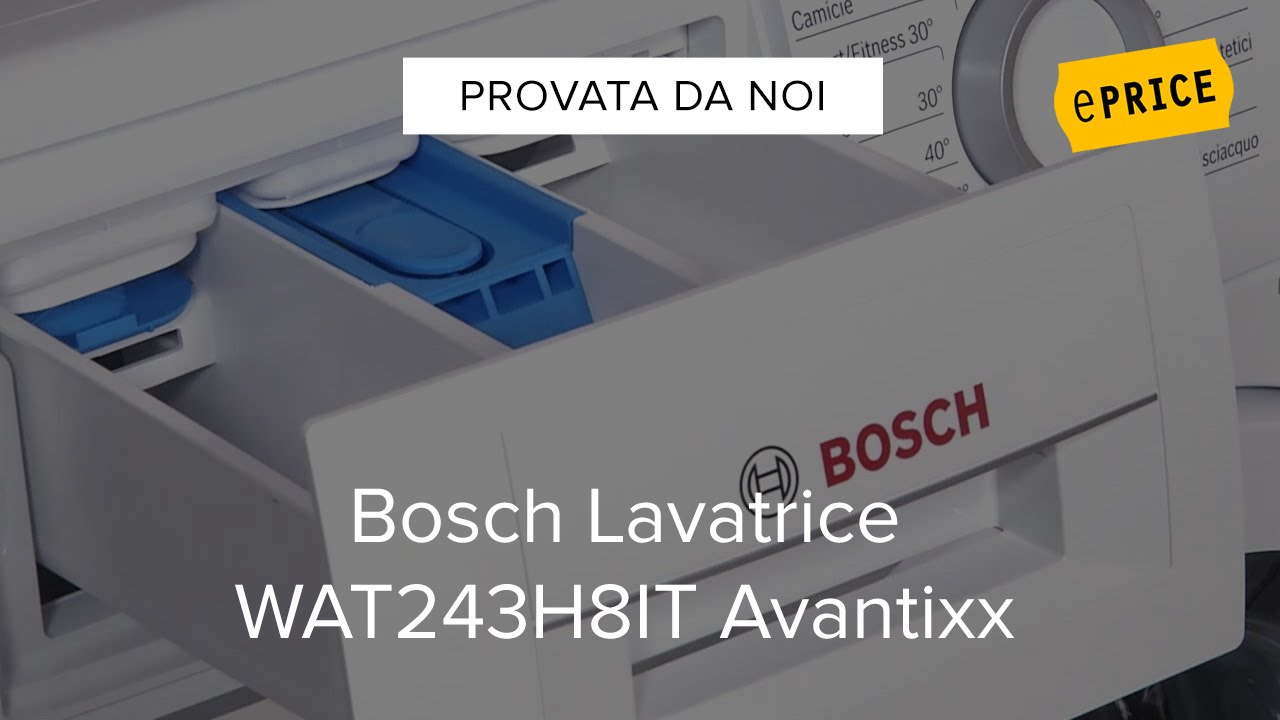 video recensione lavatrice bosch wat243h8it - youtube
