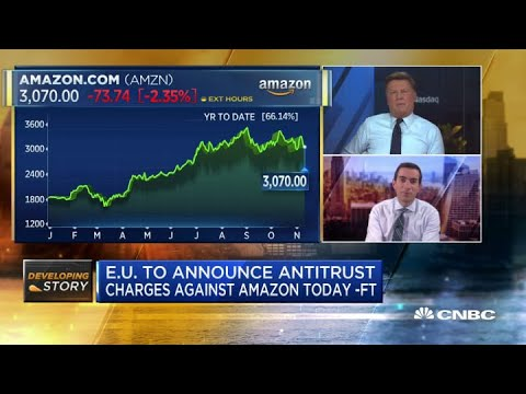E.U. to announce antitrust charges against Amazon Tuesday: Financial Times