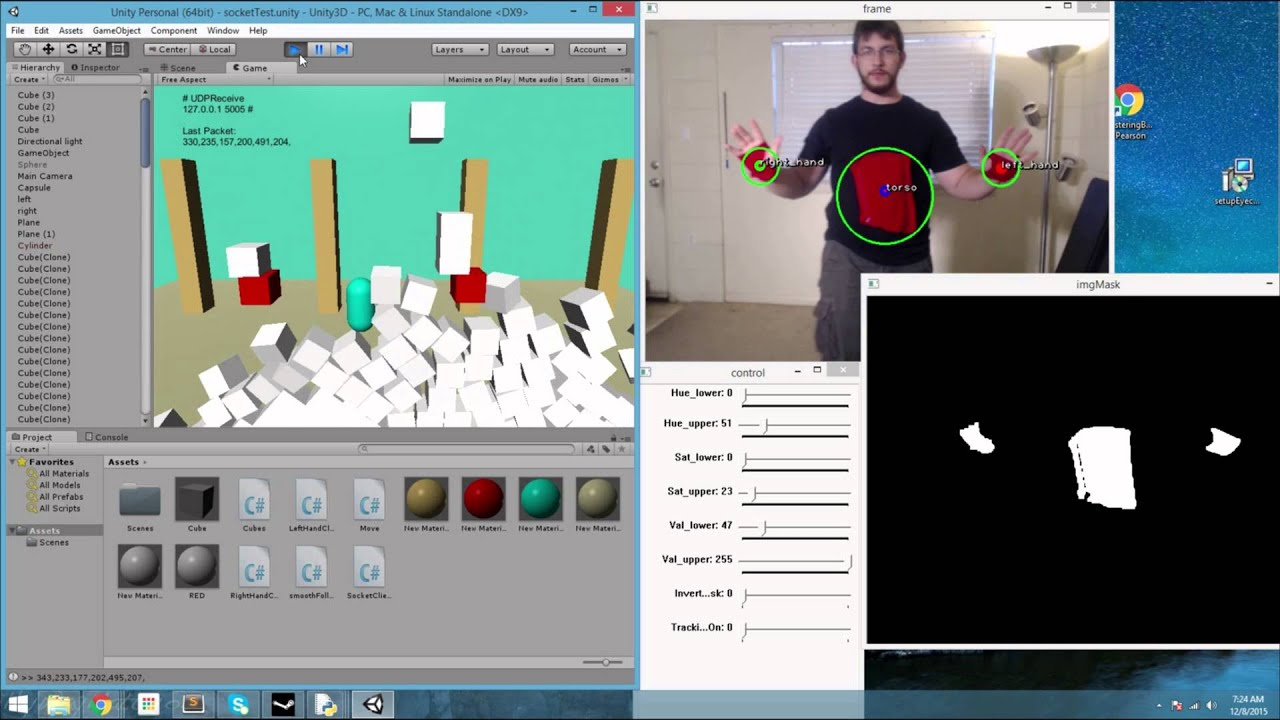 Tracking Multiple Color Markers with OpenCV and Visualizing in Unity