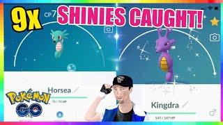 NEW SHINY HORSEA RELEASE! 9x SHINIES CAUGHT in Pokemon Go!