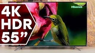 Телевизор Hisense H55N6800: экран 55 дюймов, разрешение 4K Ultra HD, поддержка HDR 10 и HLG