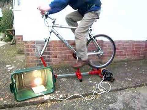 Pedal Power Bike 100 Watts Free Energy Youtube