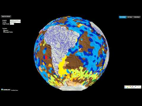 Virtual Seafloor Geology Globe spinning North-South