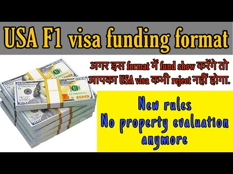 USA F1 Visa Interview - How Much Fund Needs To Show - Funding Format - Hindi