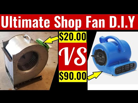 How To Make The Ultimate Shop Fan (Cheap D.I.Y Project)