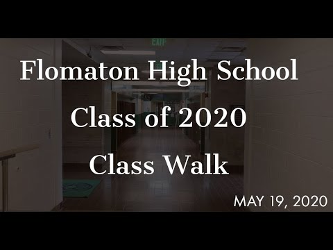 Flomaton High School Class of 2020 Class Walk