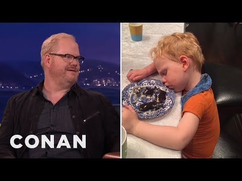Jim Gaffigan's Kids Cannot Stay Awake   CONAN on TBS