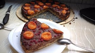 ШОКОЛАДНЫЙ пирог-ЧИЗКЕЙК с карамелизированными абрикосами!
