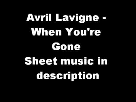 Avril Lavigne When Youre Gone Piano Sheet Music Youtube