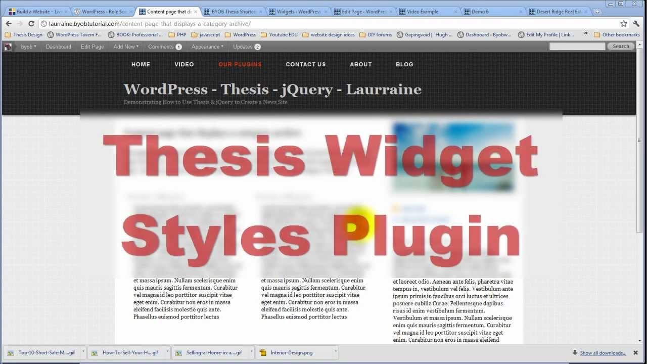Thesis custom blog page Etusivu