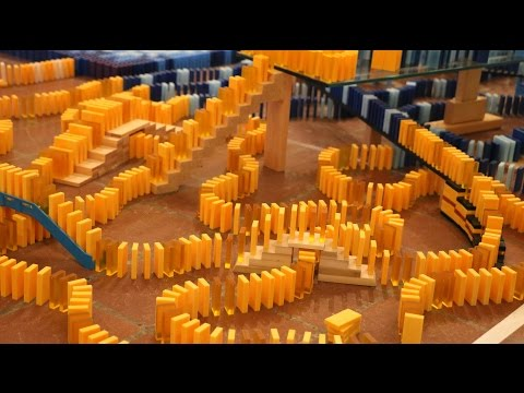 How To Set Up 30,000 Dominoes (BMAC 9 Behind the Scenes)