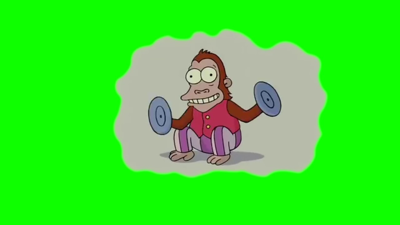Monkey Clapping Cymbals From The Simpsons Green Screen Hd Youtube