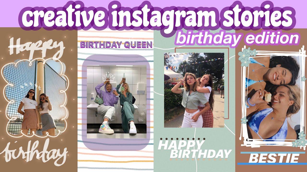 CREATIVE BIRTHDAY INSTAGRAM STORIES 200   AESTHETIC   HAPPY BIRTHDAY IG  STORIES FOR FRIENDS PART 20
