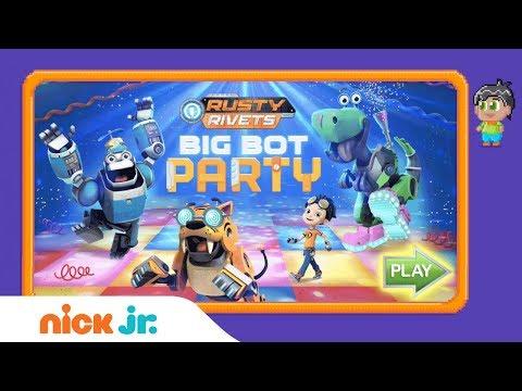 Rusty Rivets: 'Big Bot Party' Official Game Walkthrough 🎉   Nick Jr. Games