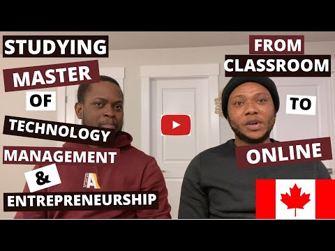 Studying Master of Technology Management and Entrepreneurship: From Classroom to Online study.