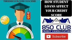 How College Student Loans Affect Your FICO Credit Score - Navient,Nelnet,Sallie Mae,Direct Loans