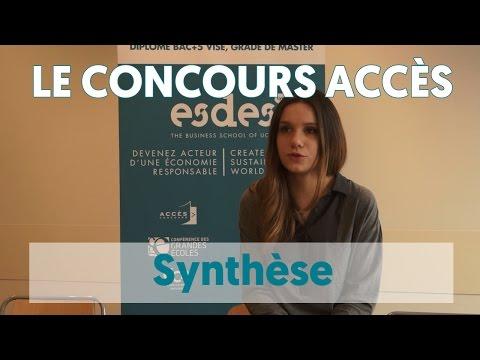 Concours Accès - les conseils pour la synthèse