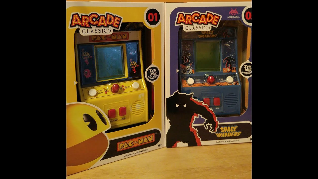 Arcade Classics 01 Pac Man And 02 Space Invaders Youtube