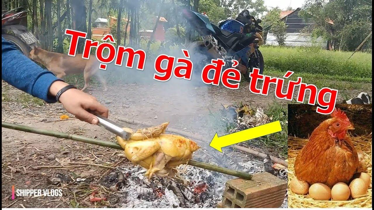 Trộm gà nhà đem nướng lá chuối và cái kết NTN | Shipper Vlogs
