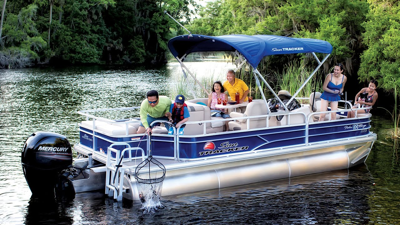 Sun Tracker Pontoon Boats >> Sun Tracker Boats 2016 Fishing Pontoon Boats