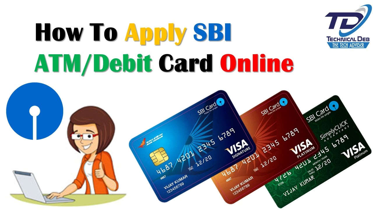 How To Apply Sbi Atm Debit Card Through Online Hindi Youtube