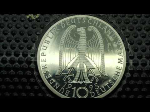 10 Dm Münzen Deutschland 925er Und 625er Silber Münzen Pp Platte