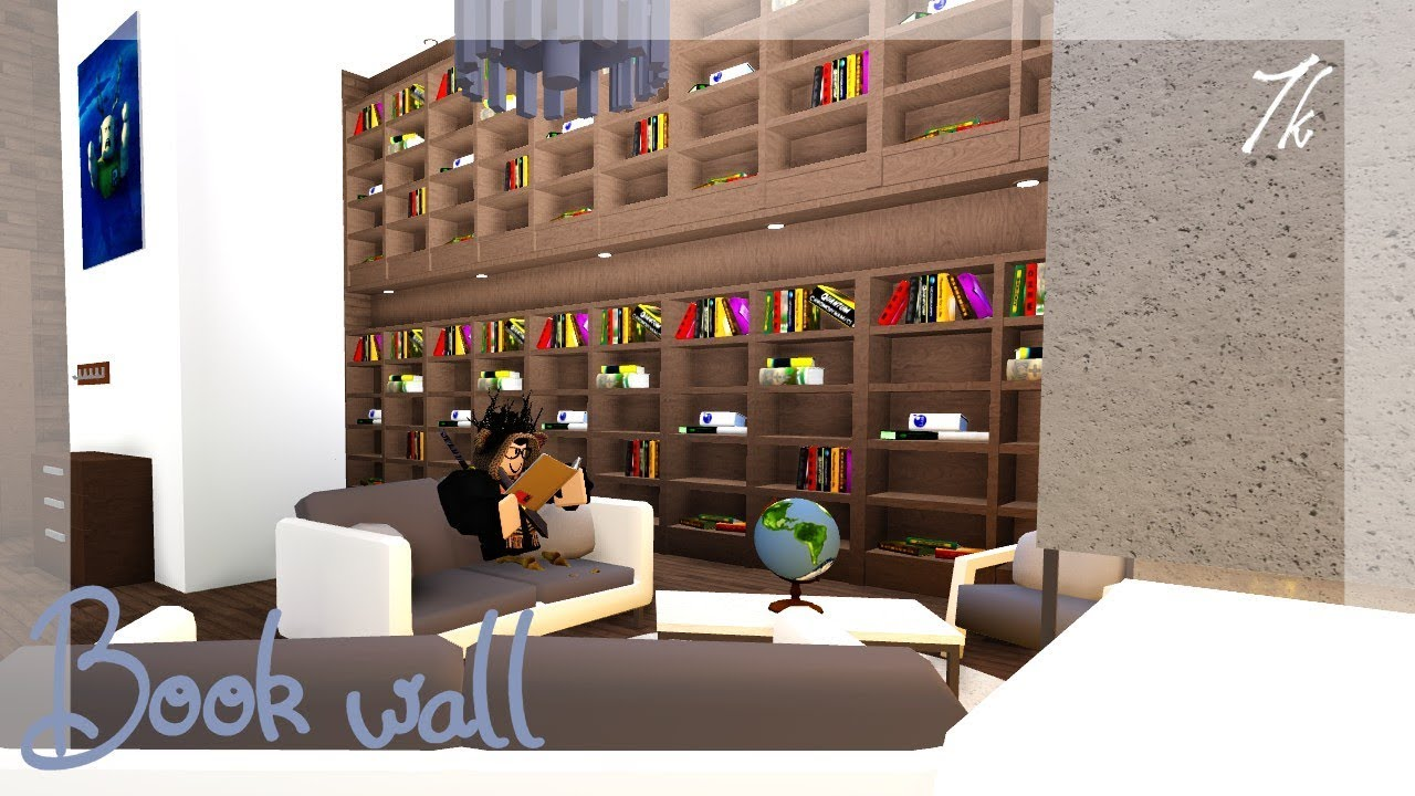 Roblox Book Wall For Library Bloxburg 7k Youtube