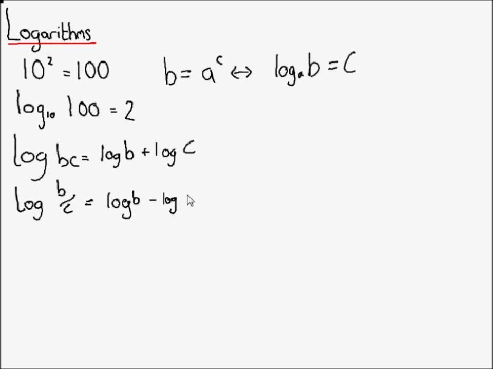 A Level Maths - C2 Logarithms - YouTube
