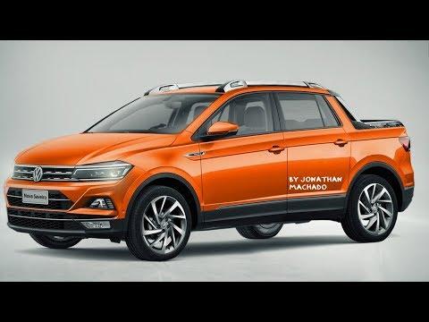 RENDER Nova Volkswagen Saveiro 2020 Cabine Dupla 4 Portas @ Tarok Polo Virtus Pickup Rival Da Oroch