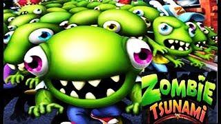 Зомби Цунами #129 смешное игровое видео челлендж  для детей играем zombie tsunami