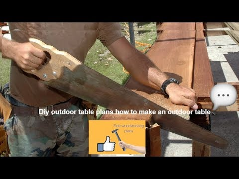 Diy outdoor table plans how to make an outdoor table